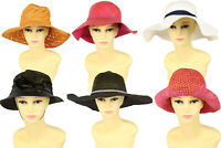 Vintage Womens Straw Hats Summer Beach Retro 80s 90s Wholesale x20 -Lot673