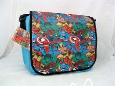 Marvel Comics Heroes Group Vinyl Messenger Bag Shoulder Handbag Tote Purse