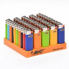 50x Bic Mini Gas Cigarette Lighter Genuine Assorted Solid Colours - New