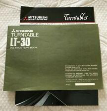 ORIGINAL Mitsubishi Turntable LT-30 Instruction Book Owners Manual