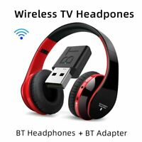 Wireless Bluetooth 5.0 Headphones 9D Stereo Heavy Bass Earphones TV Headsets Mic