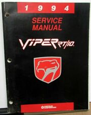 1994 Dodge Viper Dealer Service Shop Repair Manual RT/10 Original
