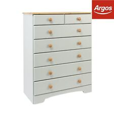 Argos Home Nordic 5 2 Drawer Chest - Grey & Pine
