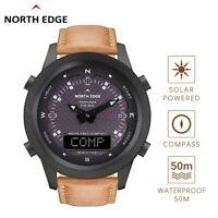 North Edge Evoque Men's Digital Smart Watch Solar Charging Outdoor Sport