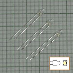 10 Stück Led 2mm  warmweiß+ Widerstand (gerundet) - E122c