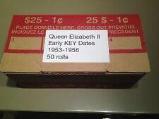 AWESOME Box of Early Queen Elizabeth KEY Date Rolls - 1953-1956