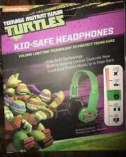 Teenage Mutant Ninja Turtles KID SAFE HEADPHONES Music OVER EAR Speaker SEALED