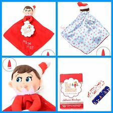 New My First Elf On The Shelf Security Blanket Lot Adhesive Bandages Blue Boy