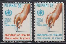 Philippine Stamps 1980 World Health Day (Anti-Smoking) Cpl. Set. MNH