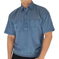 Palmland Classic 2 Pocket Solid Banded Bottom Polo Shirt Sizes Medium-4XLT