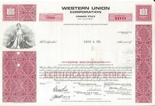 WESTERN UNION CORPORATION......1970 STOCK CERTIFICATE