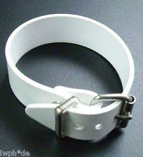 4 Correas blanco PVC 2,0 x 24,0 cm duradero resistente al tiempo lavable de lona
