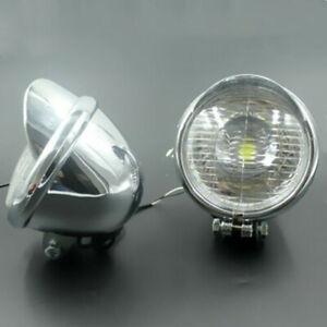 Motorcycle LED Angel Eye Driving Spot Fog light Front HeadLight For Harley Honda