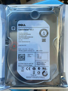 "DELL T4XNN W69TH ST1000NM0033 Constellation 1TB 7.2K RPM 3.5"" SAS Hard Drive"