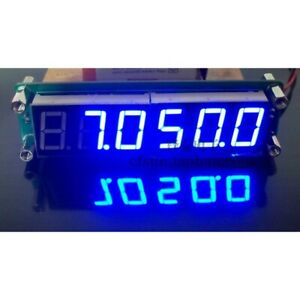 Blue PLJ-6LED-A RF Signal Frequency Counter Cymometer Tester 0.1 MHz ~ 65 MHz