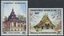 LAOS PA N°64/65* Pagodes, 1969 LAOS#C65-C66  Pagodas MH
