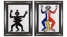 2 Alexander Calder Original Farbe Lithographie Limitierte Ed Maß Rahmen (2pcset)