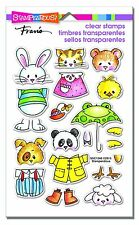Stampendous Clear Stamps - Spring Short Stack - Animals, Rabbit Cat Panda Sheep