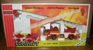 Joal Fire Engine Ariel Hook & Ladder Truck #44 Toy Ref 173 Die Cast 1/50 Rescue