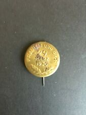 GERMAN. 29th MARCH 1936 NSDAP OFFICAL CAMPAIGN PIN BADGE -:-  ORIGINAL.