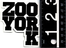 ZOO YORK SKATE STICKER Zoo York Skateboarding Black 2.5 in x 3 in Retro Decal