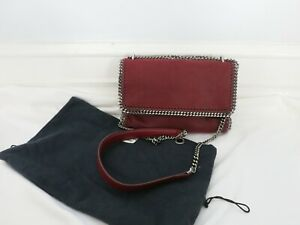 "STELLA MCCARTNEY maroon ""FALABELLA"" messenger bag"