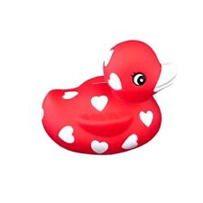 """ducky city 3"""" valentines sweetheart rubber duck [floats upright] - baby safe ba"""