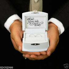 WEDDING RING BOX RING BEARER BOX PILLOW PAGE BOY BEST MAN COMMITMENT CEREMONY