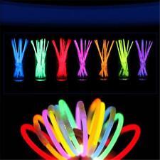 "100 pcs 8"" Glow Light Sticks Bracelet Multi Colorful Necklace lamp Neon Party"