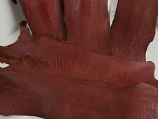 Ostrich Legs Brick Color Grade A  (%100 Genuine Ostrich Leather)