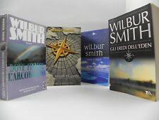 Wilbur Smith Lotto 4 Libri Tea come il mare Uccelli da preda Libro Romanzo Stock