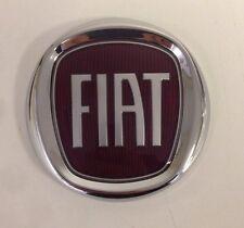 FIAT DOBLO 05> REAR TAILGATE emblem NEW RED FIAT LOGO FIAT 500 95 mm diameter