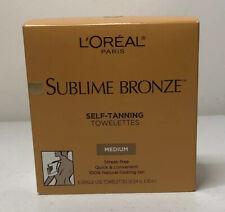 L'Oreal Paris Sublime Bronze Self-Tanning Towelettes 6 ct. New!