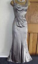 Karen Millen ❤️ Lovely Silver Evening Long Mermaid Ballgown Dress Size 8 Petite