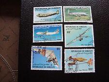 DJIBOUTI - timbre y&t aerien n° 183 184 185 197 198 199 obl (A04) stamp