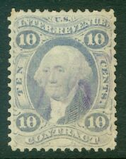 EDW1949SELL : USA 1872 Scott #R34be Ultramarine Used. Fine stamp. Cat $650.00.