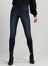 d6742b9e757 NEW EXPRESS DARK WASH HIGH WAISTED CORSET FRONT STRETCH JEAN LEGGINGS JEANS  00R