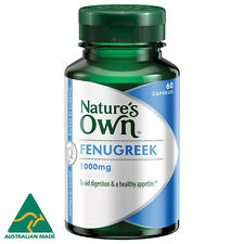 Natures Own FENUGREEK 1000MG 60 CAPS breastmilk supply digestion mucous