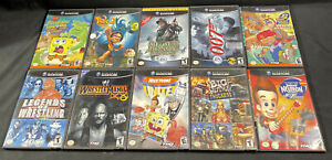 Gamecube Lot Of 10 Games!! Tested And Played!!