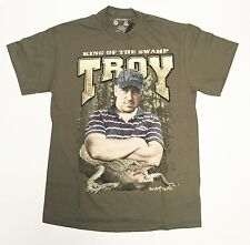 King Of The Swamp - Troy - Swamp People - Men's Large Green T-Shirt