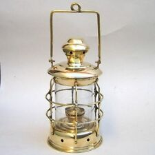 "14"" BRASS CARGO LANTERN ~ SHIP LAMP ~ MARITIME ~ NAUTICAL DECOR ~ BOAT"