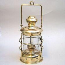 """14"""" BRASS CARGO LANTERN ~ SHIP LAMP ~ MARITIME ~ NAUTICAL DECOR ~ BOAT"""