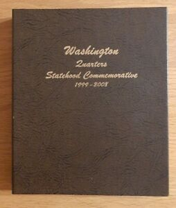 DANSCO Coin Album WASHINGTON QUARTERS STATEHOOD COMMEMS used
