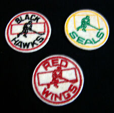 Circa 1970 Nhl Hockey Mini Cloth Patches Red Wings Golden Seals Blackhawks