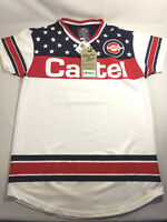 NWT Bleeker And Mercer Mens Red White Black Cartel #94 Jersey Sz XL