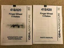 Gehl 418 420 Finger Wheel V Rake Operators Manual Amp Parts Manual 2 Books