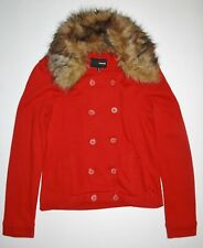 New Hurley Womens Wylie Faux Fur Collar Fleece Casual Street Jacket Small
