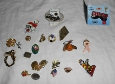 Large lot of pins,lions club, Elks, girl scout  & others 22pc