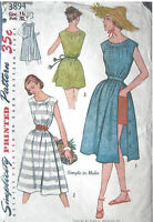 """1950s Vintage Sewing Pattern B32"""" BEACH STYLE DRESS, COVER-UP (R724)"""