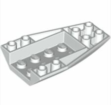 4261693_LEGO Wedge 6 x 4 Inverted Curved (43713)_White(Lot of 10)